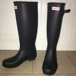 Navy Blue Hunter Boots Size 7